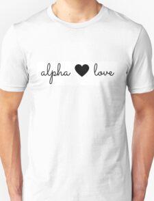 alpha love Unisex T-Shirt