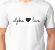 alpha love Unisex T-Shirt