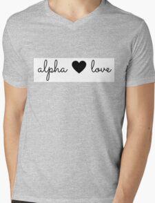 alpha love Mens V-Neck T-Shirt