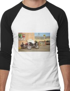 Route 66 - Grants, New Mexico Motorcycles Men's Baseball ¾ T-Shirt