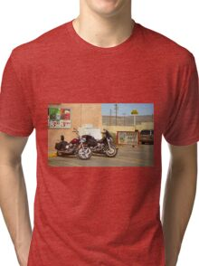 Route 66 - Grants, New Mexico Motorcycles Tri-blend T-Shirt