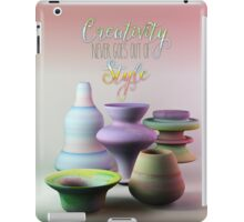 Creativity Never Goes Out of Style Watercolor 3D Pottery iPad Case/Skin