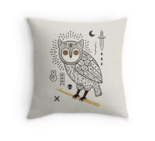 Hypno Owl Throw Pillow