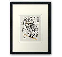 Hypno Owl Framed Print