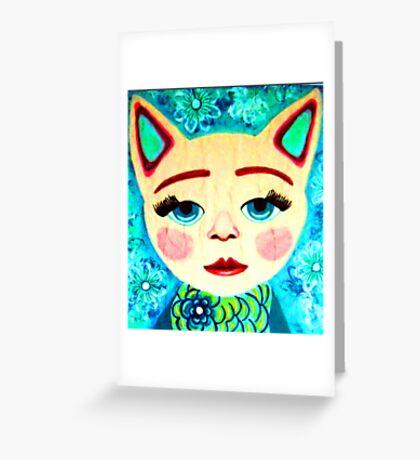 anthropomorphic cat Greeting Card