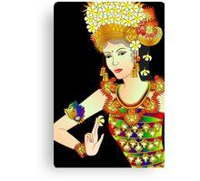 Details-1 (Balinese Dancer & Frangipani) Canvas Print