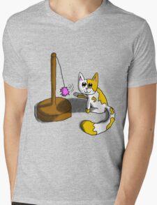 Playful Kitty Mens V-Neck T-Shirt