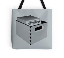 Crate Digging (dark) Tote Bag