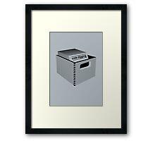 Crate Digging (dark) Framed Print