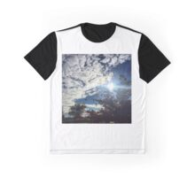 Clouds & Red Fall Colors Graphic T-Shirt
