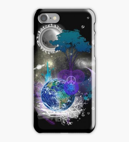 Cosmic geometric peace iPhone Case/Skin