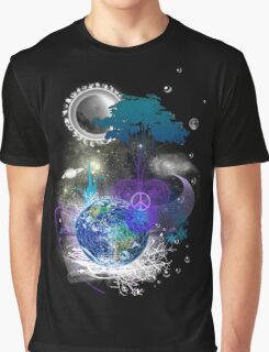 Cosmic geometric peace Graphic T-Shirt