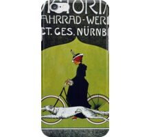 Vintage poster - Victoria Bicycles iPhone Case/Skin