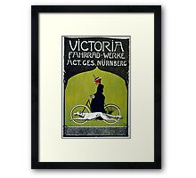 Vintage poster - Victoria Bicycles Framed Print