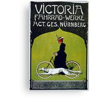 Vintage poster - Victoria Bicycles Canvas Print