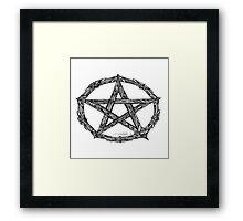 Wicca Pentacle White Framed Print