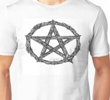 Wicca Pentacle White Unisex T-Shirt