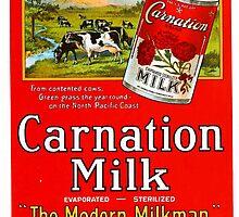 Vintage poster - Carnation Milk by mosfunky