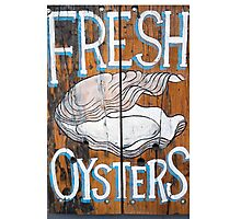 Fresh oysters Wooden Board Photographic Print