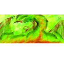 Dragon of burning Colors Photographic Print