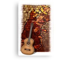 Donkey Kong & Guitar Metal Print
