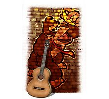 Donkey Kong & Guitar Photographic Print