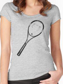 Tennis Racquet Women's Fitted Scoop T-Shirt