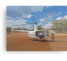 Bungle Bungles Helicopter Metal Print