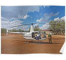 Bungle Bungles Helicopter Poster