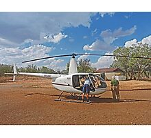 Bungle Bungles Helicopter Photographic Print