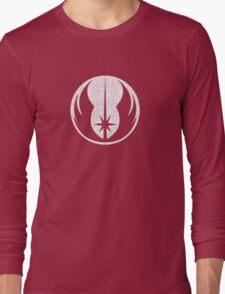 Jedi (white, distressed) Long Sleeve T-Shirt