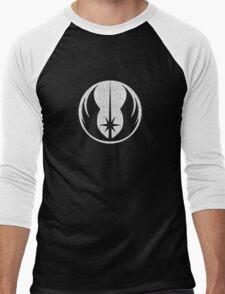 Jedi (white, distressed) Men's Baseball ¾ T-Shirt