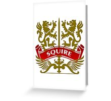 The Squire Coat-of-Arms Greeting Card