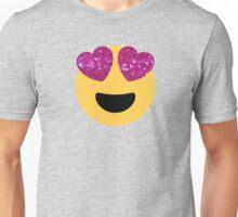 glittter heart eye emoji Unisex T-Shirt