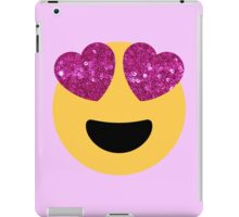 glittter heart eye emoji iPad Case/Skin