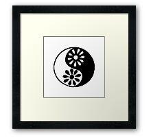 Girly Yin Yang Framed Print