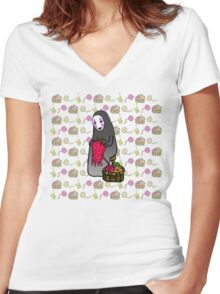Crafts with No-Face Women's Fitted V-Neck T-Shirt
