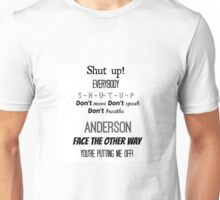 Sherlock - Shut Up!  Unisex T-Shirt