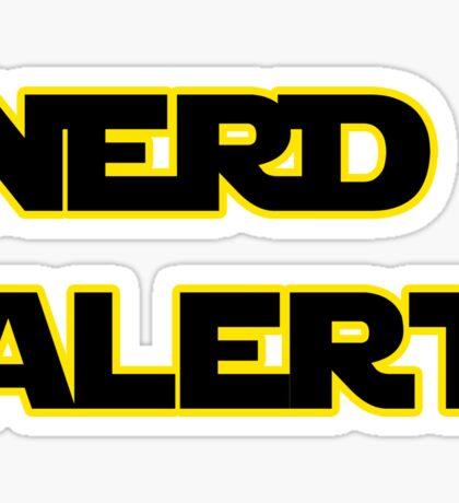 Nerd Alert Star Wars Font Sticker