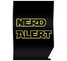 Nerd Alert Star Wars Font Poster