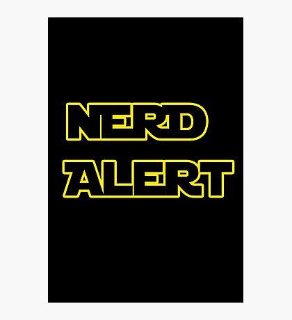 Nerd Alert Star Wars Font Photographic Print