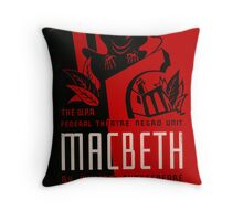 Shakespeare Macbeth Throw Pillow