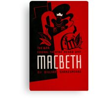 Shakespeare Macbeth Canvas Print