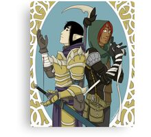the thief, the warrior Canvas Print