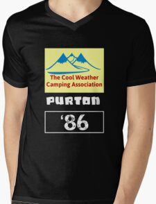 The Cool Weather Purton 86 Design Mens V-Neck T-Shirt