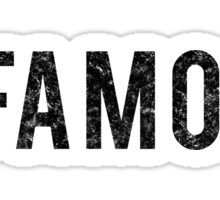 Infamous - Black Dirty Sticker