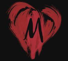 M - GRAFFITI HEART by DCdesign
