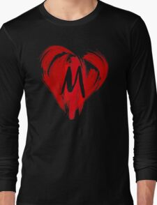 M - GRAFFITI HEART Long Sleeve T-Shirt