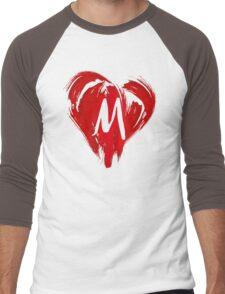 M - GRAFFITI HEART Men's Baseball ¾ T-Shirt