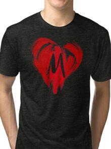 M - GRAFFITI HEART Tri-blend T-Shirt